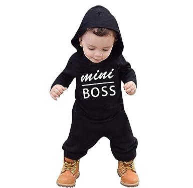 Amazon.com: Bebé Rompers niño manga larga bebé niña invierno ...