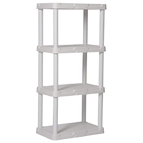 Remarkable Blue Hawk 4 Tier Plastic Freestanding Shelving Unit Storage Shelf Shelves Rack White Interior Design Ideas Lukepblogthenellocom