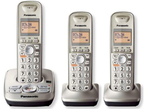 (Panasonic KX-TG4223N DECT 6.0 3-Handset Cordless Telephone)