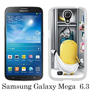 Beautiful Samsung Galaxy Mega 6.3 I9200 I9205 Cover Case ,Newest And Durable Designed Case With minion White Samsung Galaxy Mega 6.3 I9200 I9205 Case Unique And Cool Phone Case