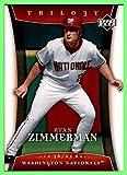 2005 Upper Deck Trilogy #12 Ryan Zimmerman RC Washington Nationals ROOKIE (77c)