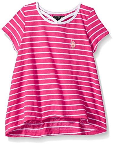 U.S. Polo Assn. Girls Short Sleeve Striped T-Shirt