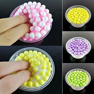 ANGELS--Kids Anti Stress Cotton Candy Toys Butter Glitter Beads Fluffy Floam Slime Hot