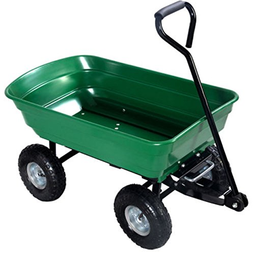 Garden Cart Wagon Wheels Rolling Dump Trailer Lawn Utility Carrier Heavy Duty 650LB (Macarthur Baskets)