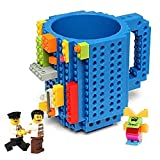 Build-on Brick Mug,Latest Version,with 3 packs of Bricks,Creative DIY Building Blocks Cup for Coffee Water Juice,BPA-free Plastic,Unique Funny Cups,Puzzle Mug,Novelty Gifts for all Festival,Triumphic
