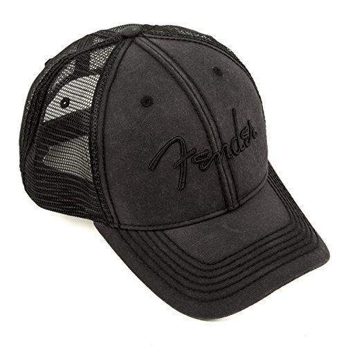 Fender Blackout Trucker Hat, Black, Onesize