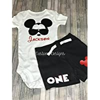 Mickey Mouse 1st Birthday Outfit/1st birthday outfit/Personalized Birthday Boy