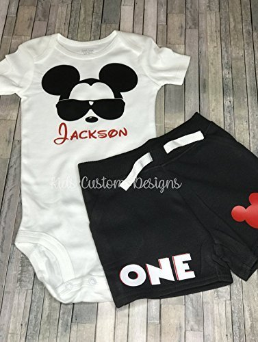 Mickey Mouse 1st Birthday Outfit/1st birthday outfit/Personalized Birthday Boy (Mickey Mouse 1st Birthday Shirt)