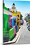 Canvas On Demand Philippe Hugonnard Premium Thick-Wrap Canvas Wall Art Print, 24'' x 36'', entitled 'Colorful Houses - Cape Town XV'