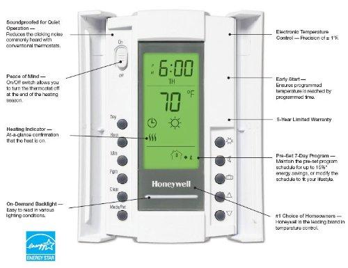 honeywell tl8230a1003 line volt thermostat 240 208 vac 7 day rh amazon com