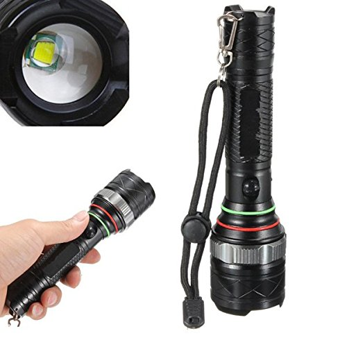 XM-L T6 1600Lm 5modes Rechargeable Zoomable LED Flashlight / s: . This torch is firmly wired and comes with two chargers .The smaller AC adapt and 12V DC car-adaptor provides added convenience. (