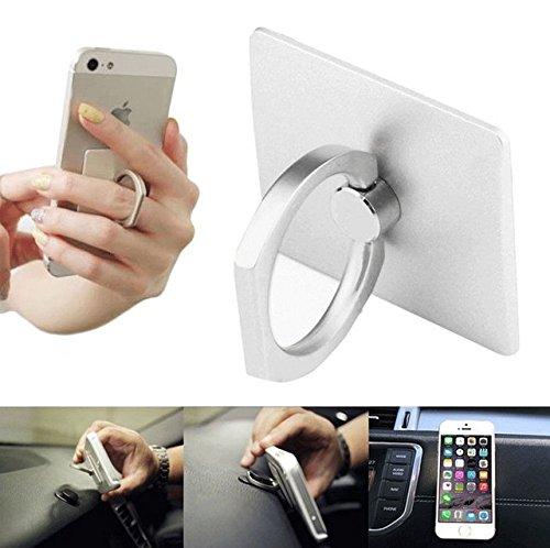 Globale Zubehör Warm 360 ° Bunker Ring Handy ipod-Fingerring-Halter & stand (white)