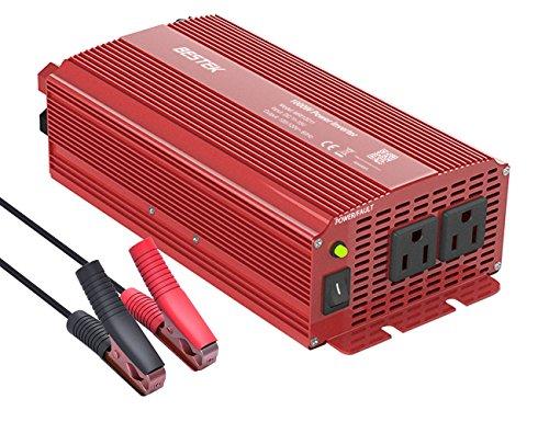 BESTEK Power Inverter 1000 Watt DC 12 Volt, Power Converter 1000w DC to AC Converter for Car, Modified Sine Wave Inverter With Cigarette Lighter