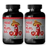Natural testosterone booster for men - MAKE MY PEPPER BIG - Tribulus with arginine - 2 Bottles 120 capsules