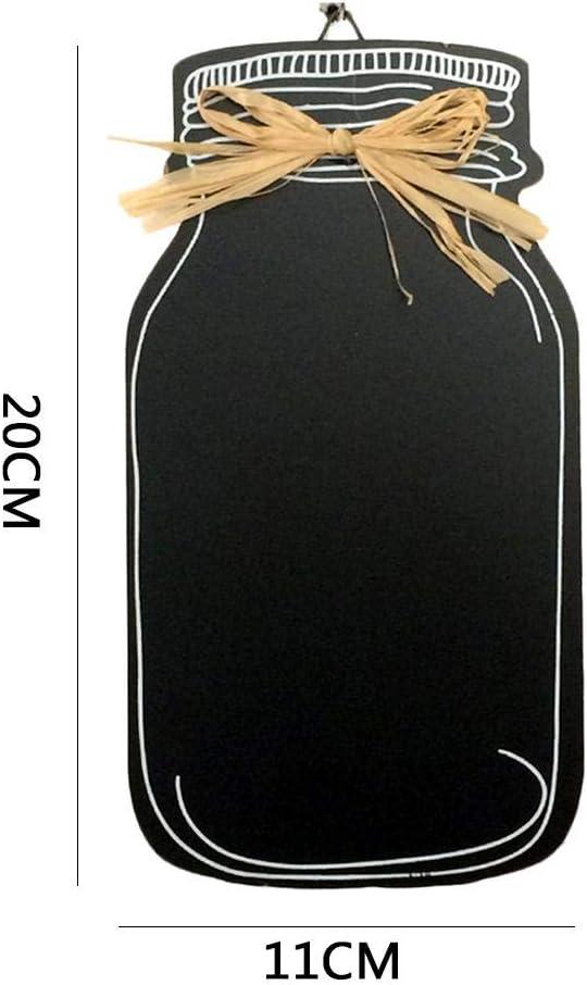 convincied Mini Signes en Ardoise Vintage Rectangle Bois Tableau Utilisation Tableau Noir /À Suspendre Corde Erasable sans Cadre Message Board,pour La D/écoration De Noce Bar Restaurant