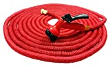 100ft Expanding Garden Hose is the Latest Generation Red Super Hose Pipe with 7 Function Spray Gun and Garden Tap Connector – This Expandable Hose is Manufactured to a higher Tough Specification – Inner Hose is Strong Double Latex, Outer Hose is New 5000 X 5000D Fabric – Warranted - 6 Months Expands up to 3 Times its Original Length – Lightweight and No more Kinking – Shrinks like Magic for Easy Storage.