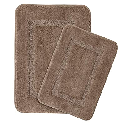 Microfiber Shag Bath Rug Set Non-Slip Super Soft Water Absorbent Tufted Thick Bath Rugs Mats for Bathroom Bath Rugs Set, Machine-Washable, 20 x 32/17 x 24 Taupe -  - bathroom-linens, bathroom, bath-mats - 51JaUAmzwjL. SS400  -
