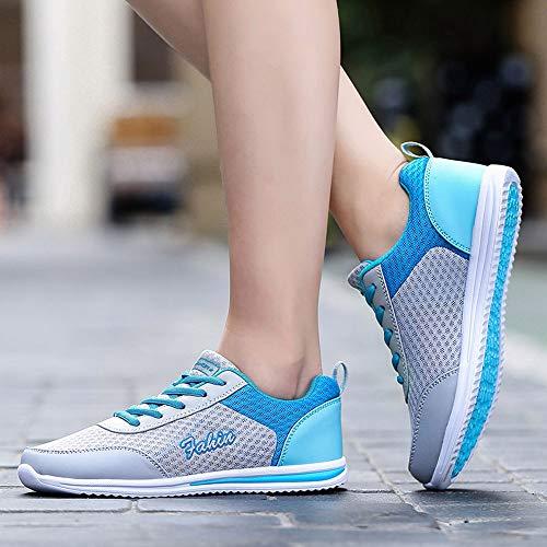 Chaussure Basses De Mesh Femme Filles Confortable Chaussures Bleu Running Solike Baskets Sport Fitness Lacets PqxYnxT8I