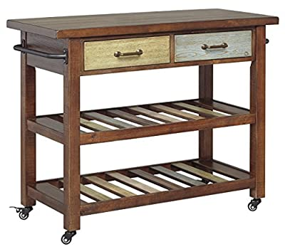 Marlijo Kitchen Cart Brown