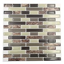 """Cocotik Peel and Stick Tile 10""""x10"""" Decorative Backsplash Kitchen Tile - Pack of 6"""