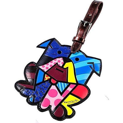ロメロブリット荷物タグIDカスタム名(マルチカラー/犬) by Romero Britto   B0118EA5EW