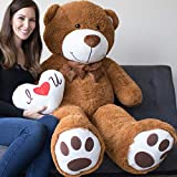 5 foot bear - Yesbears Giant Teddy Bear 5 Foot Brown Microfiber Bowtie & Face (Pillow Included)