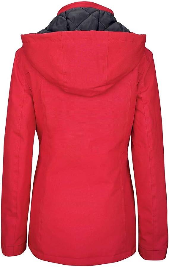 Quilted Lining Detachable Hood Kariban Ladies Showerproof Parka Jacket Coat