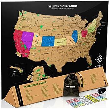Amazon.com: Best Maps Ever US National Parks Map 11x14 Print (Tan ...