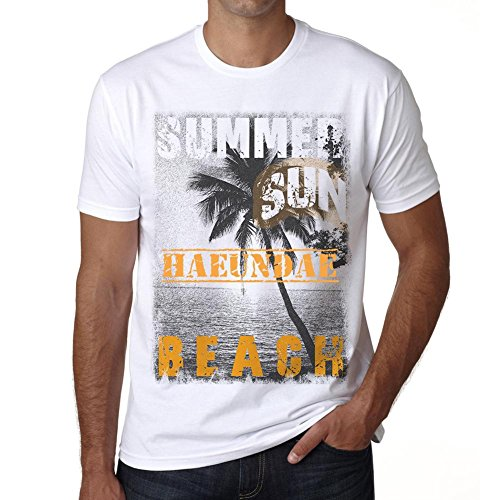 Haeundae ,Men's Short Sleeve Rounded Neck T-shirt