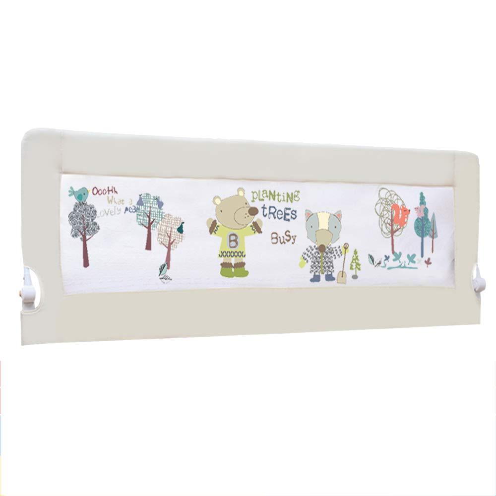 LHA ベッドガードフェンス ガードレール赤ちゃんの粉々に抵抗するフェンス子供のベッド折り畳み式ベッドガードレール150/180 / 200cm (色 : 白, サイズ さいず : L-180cm) L-180cm 白 B07JW2WWW9