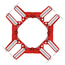 "YaeTek 4 PCS 90 Degree Right Angle Miter Corner Clamp 3"" Capacity Picture Frame Jig Tool"