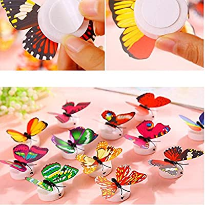 DIY Window Wall Sticker,Butterfly Mural Decals Wall Decoration for Kids Bedroom Living Room Nursery Baby Room Office Hotel Shop,Self-Adhesive Gift for Children Boy Girl (red): Arts, Crafts & Sewing