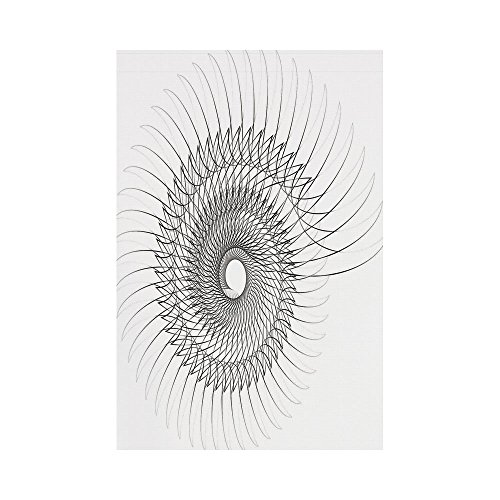 24w Spiral - Polyester Garden Flag Outdoor Flag House Flag Banner,Spires Decor,Authentic Geometric Rotary Spiral with Helix Element and Regular Lines Cyclic Symbol,Grey,for Wedding Anniversary Home Outdoor Garden