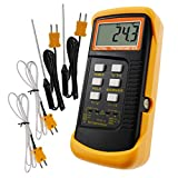 Digital 2 Channels K-Type Thermometer w/ 4