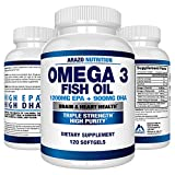Omega 3 Fish Oil 2250mg | HIGH EPA 1200MG + DHA 900MG Triple Strength Burpless Capsules | BioScience Nutrition