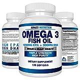 Omega 3 Fish Oil 2250mg | HIGH EPA 1200MG + DHA 900MG Triple Strength Burpless Capsules | BioScience Nutrition
