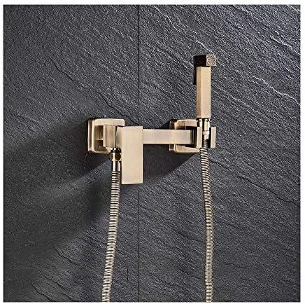 冷温水ビデスプレーブラスポータブル布おむつウォッシャーシャワースプレーヤーセット壁掛けバスルームシャワービデット個人衛生用,Antique b