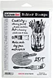 Darkroom Door DDRS188 7.3'' x 5.1'' Artist Palette Cling Stamps, Multicolor