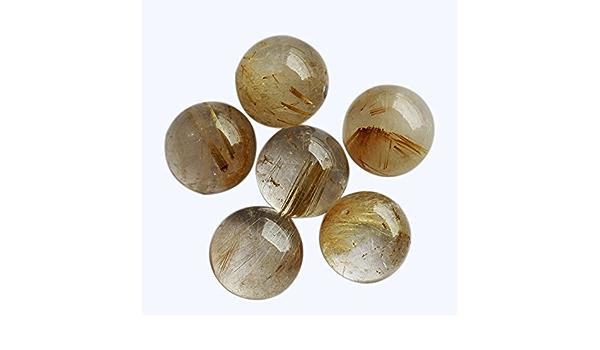 AAA Grade 26 x 20mm Natural Golden Rutilated Quartz PearTeardrop Shaped Semi-Precious Gemstone Cabochon