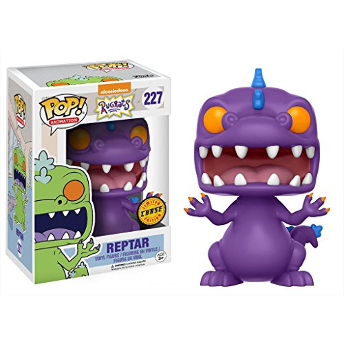 Funko Reptar (Chase Edition): Nickelodeon Rugrats x POP! Animation Vinyl Figure & 1 POP! Compatible PET Plastic Graphical Protector Bundle [#227 / 13981 - B]
