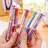 Creative Multicolor Ballpoint Pen Lovely Oil Pen Stationery Press Six Color Oil Pen For Student Children Office & School Supply