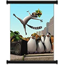 """The Penguins of Madagascar Animated TV Series Fabric Wall Scroll Poster (16"""" X 21"""") Inches"""