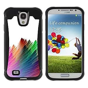 Suave TPU GEL Carcasa Funda Silicona Blando Estuche Caso de protección (para) Samsung Galaxy S4 IV I9500 / CECELL Phone case / / Strokes Colorful Feather White /