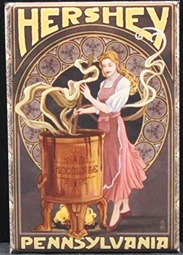 (Hershey Pennsylvania Vintage Travel Poster Refrigerator Magnet.)