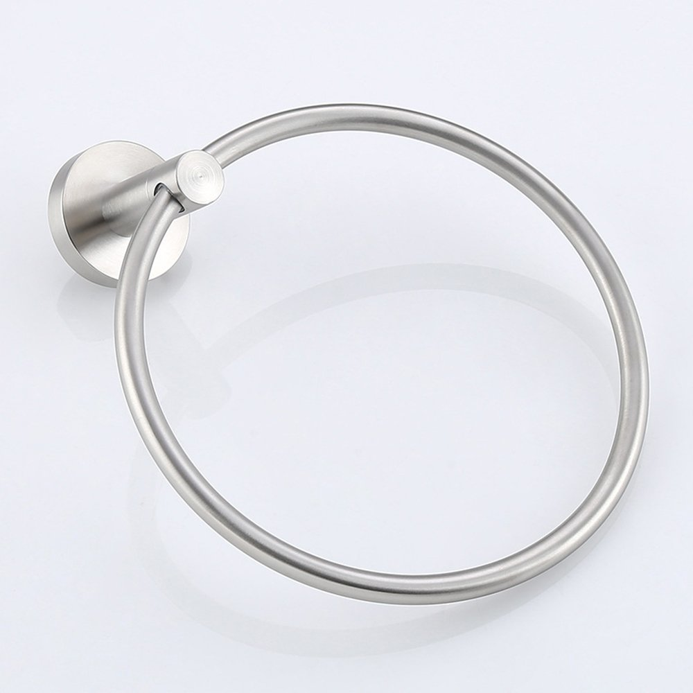 SHiZAK 304 Stainless Steel Circle Towel Ring, Bath Towel Holder Hand Towel Ring Hanger Bathroom Accessories Contemporary Hotel Style, Wall Mounted