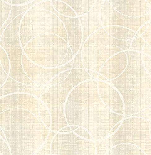 Brewster 2686-001942 Schewe Beige Geometric Wallpaper ()