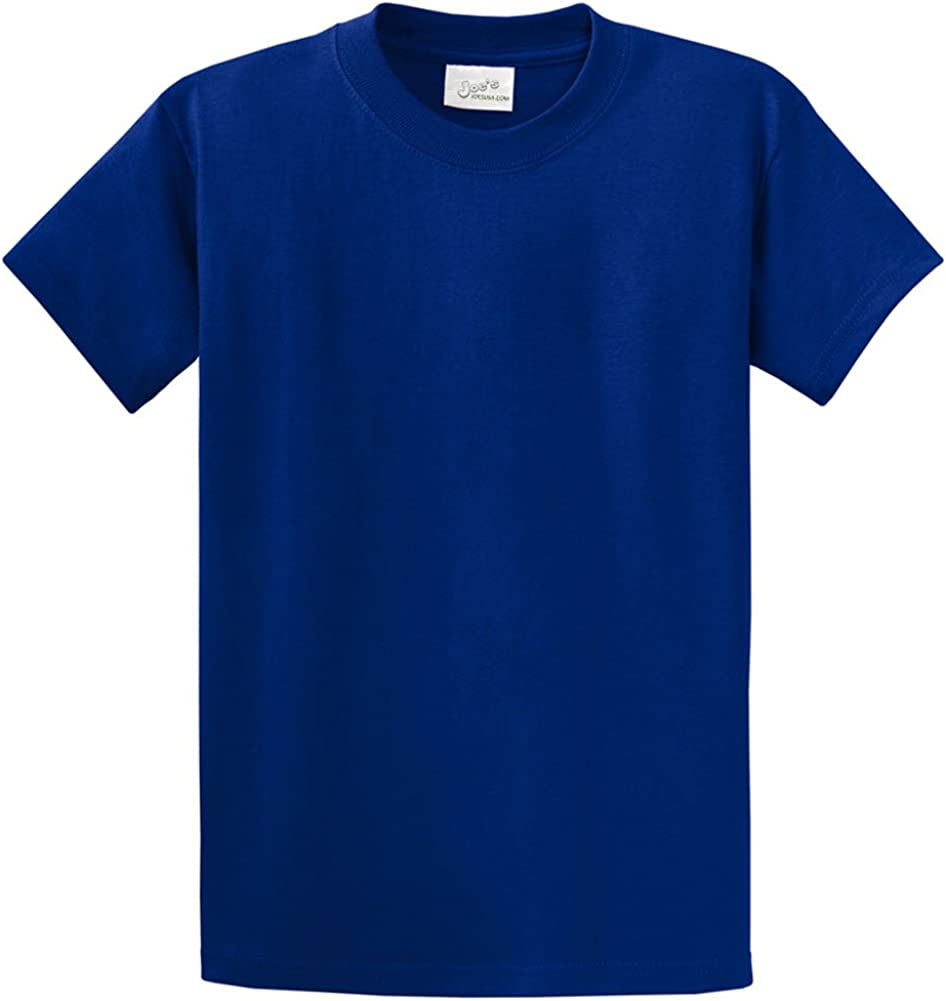Joes USA Mens Heavyweight 6.1-Ounce 100/% Cotton T-Shirts in Regular Big and Tall Sizes