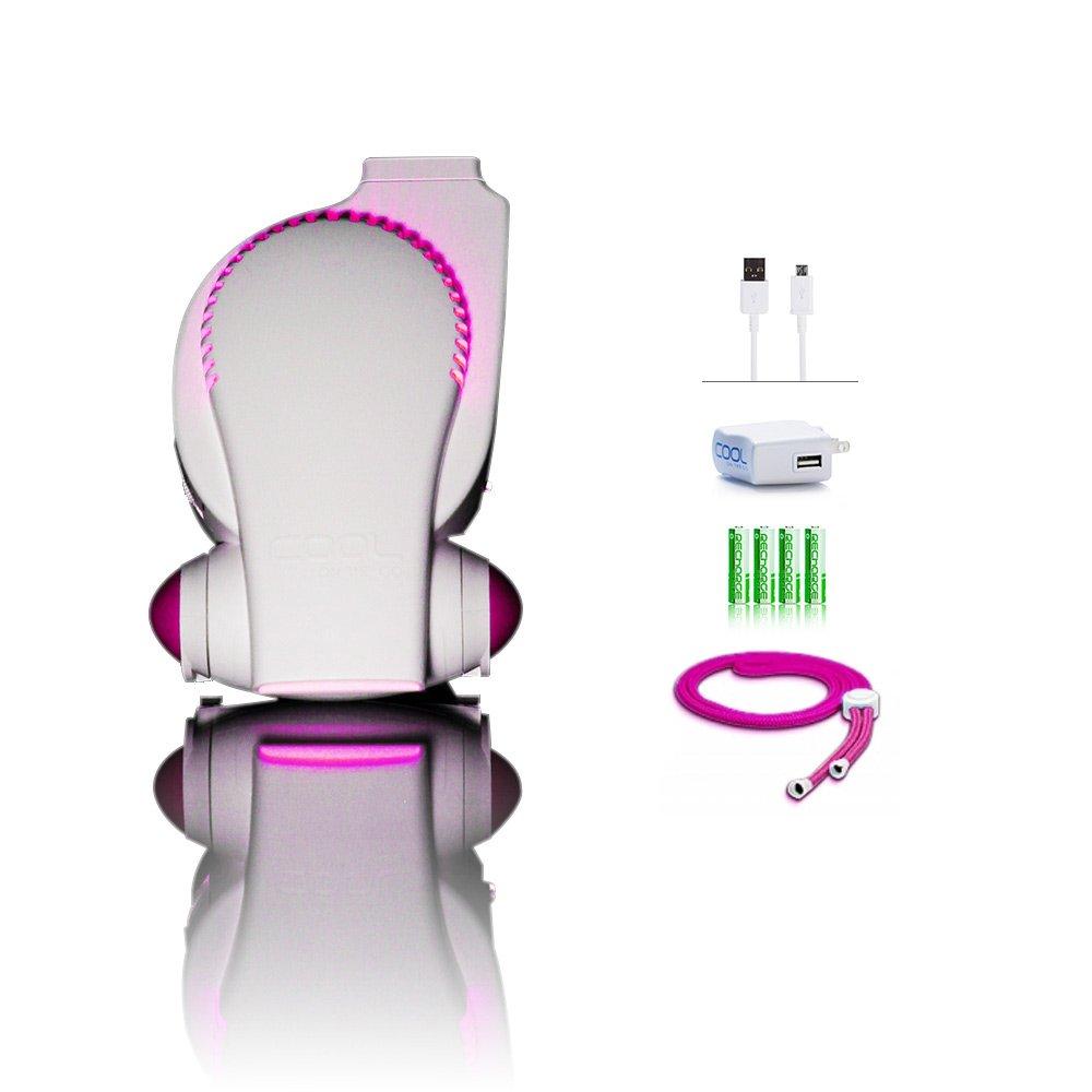 Rechargeable Stroller Fan by Cool On The Go - Bladeless Battery Operated Fan, Personal Fan, Portable Fan, USB Desk Fan | Keep Cool Everywhere by COOLGO