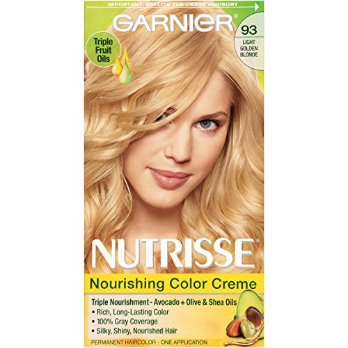 Garnier Nutrisse Nourishing Hair Color Creme, 93 Light Golden Blonde (Honey Butter)  (Packaging May (Golden Shea Butter)