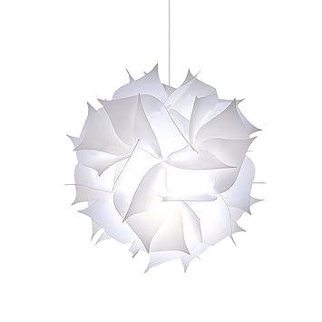 Pantalla de lámpara de techo colgante con forma de rompecabezas de mariposa para dormitorio o sala de estar (color blanco)
